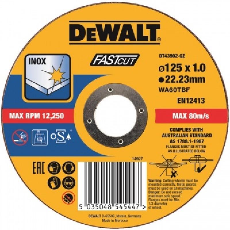 DeWALT rezný kotúč 125 X 1.0mm