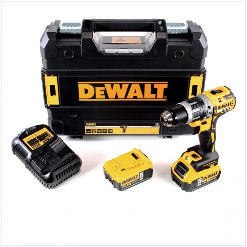 DeWALT kompaktná príklepová vŕtačka/šrobovák DCD796P2 www.ptnaradie.sk