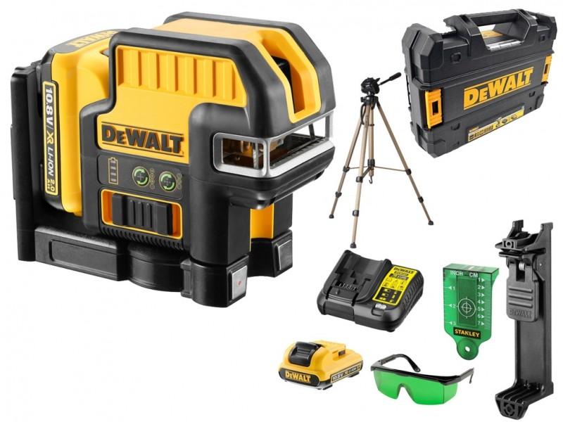 DeWALT krížový a 5 bodový zelený laser