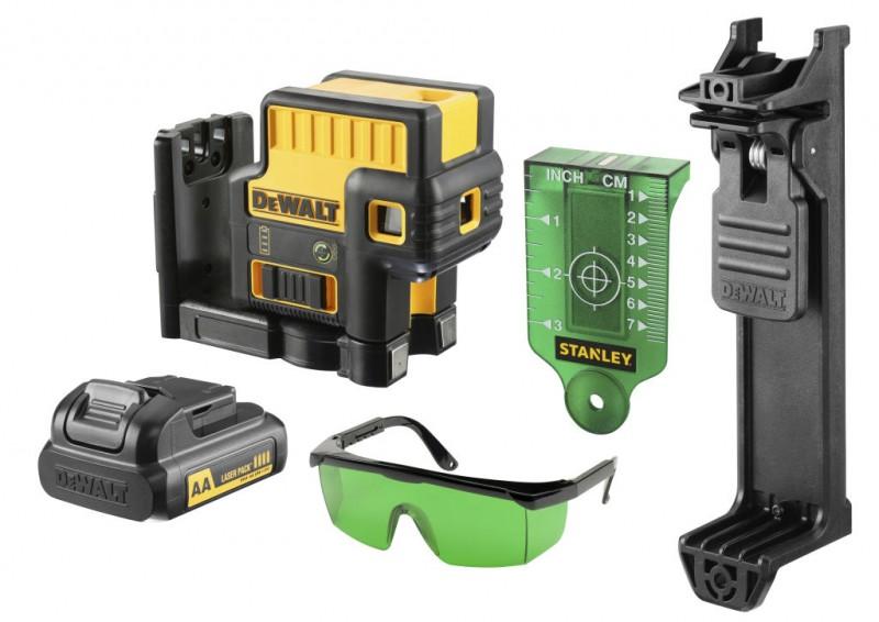 DeWALT 5 bodový zelený laser 10,8 V