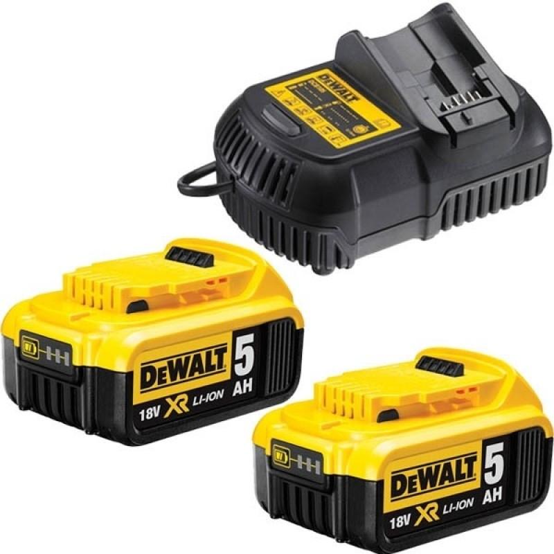 DeWALT sada akumlátorov a nabíjačky  5,0 Ah 18V
