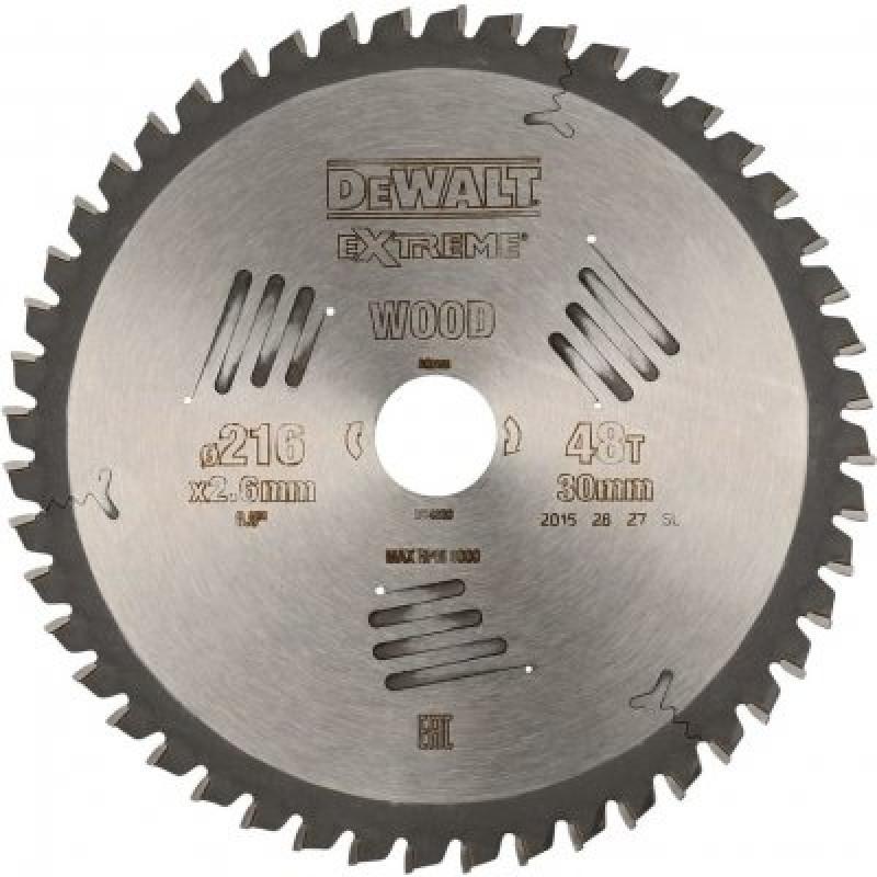 DeWALT DT4320 pílový kotúč EXTREME WOOD, 216x30 mm, 48 zubov