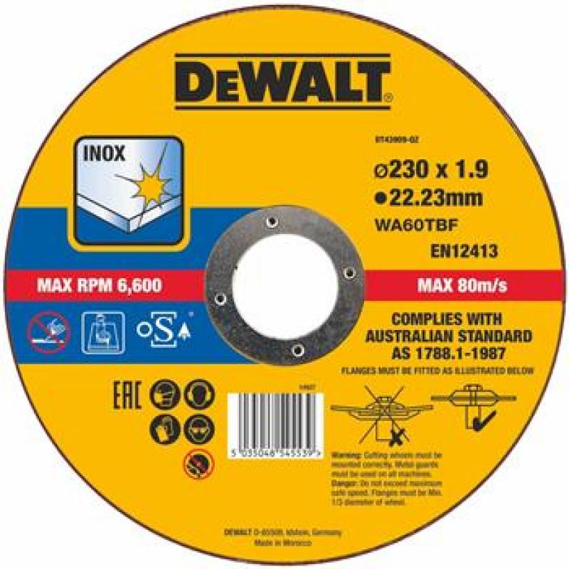 DeWalt DT43909 rezný kotúč na nerez 230x1,9mm