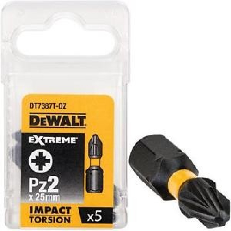 DeWALT DT7387T Sada bitov 5 ks, 25MM, PZ2, EXTREME Torsion